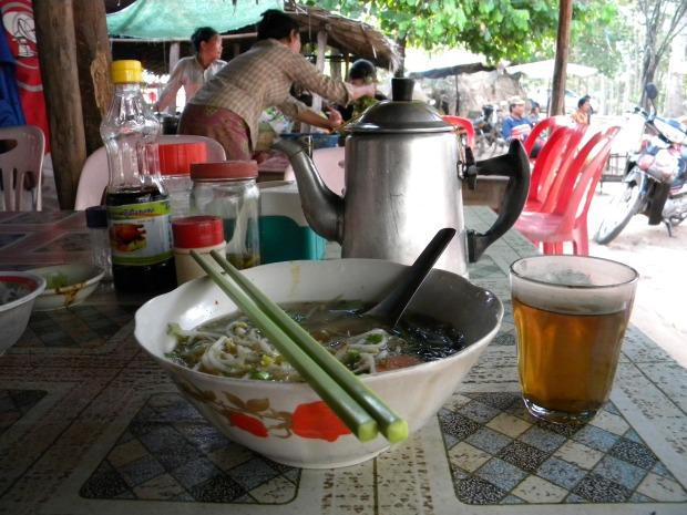 Veggie Noodle Soup Breakfast